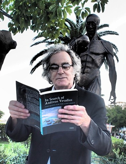 "Bryan Green reading his poem in the book of Theo Dirix "" In Search of Andreas Vesalius"""