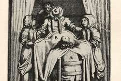 A man-midwife and a 'modesty blanket' c.1681